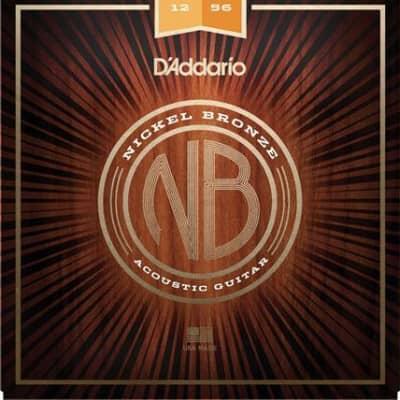 D'Addario Nickel Bronze Acoustic Guitar Strings 12-56