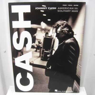 Johnny Cash American III: Solitary Man Piano Vocal Guitar Sheet Music Song Book Songbook