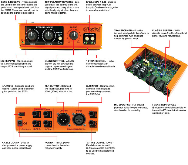 radial engineering extc sa reamp guitar effects reverb. Black Bedroom Furniture Sets. Home Design Ideas