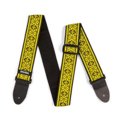 Dunlop D67-02YE Jacquard Fillmore Yellow Strap