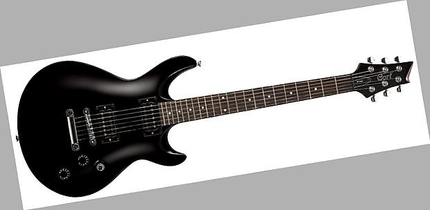 cort m200 electric guitar black finish reverb. Black Bedroom Furniture Sets. Home Design Ideas
