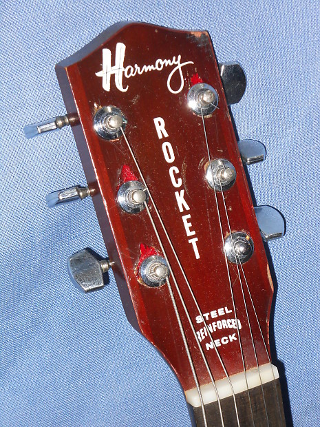 1965 Harmony Rocket H53 Hollow Electric Guitar W  3