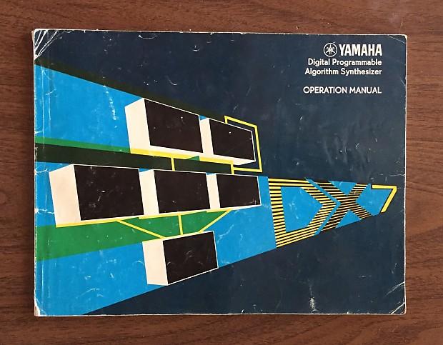 Yamaha dx7 digital synthesizer yasuhiko fukuda operation manual   ebay.