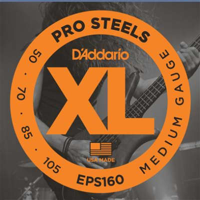 D'Addario EPS160 XL ProSteel Electric Bass Guitar Strings 50-105