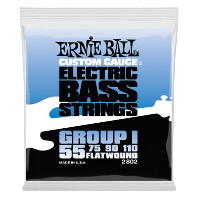 Ernie Ball 2802 Flatwound Group I Electric Bass Guitar Strings gauges 55-110
