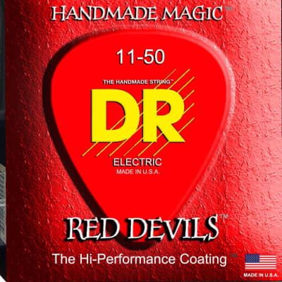 DR Strings Red Devils - Extra-Life Red Coated Electric 11-50