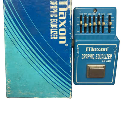 Maxon GE-601, Graph EQ, Made in Japan, 1981, Original Boxing, Vintage Guitar Effect Pedal for sale