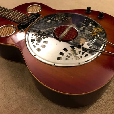 Orpheum  vintage dobro resonator acoustic electric Mojo machine for sale