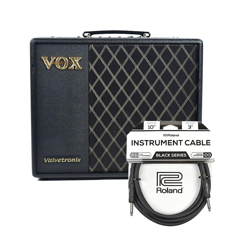 vox vt40x 40w 1x10 combo cable bundle reverb. Black Bedroom Furniture Sets. Home Design Ideas