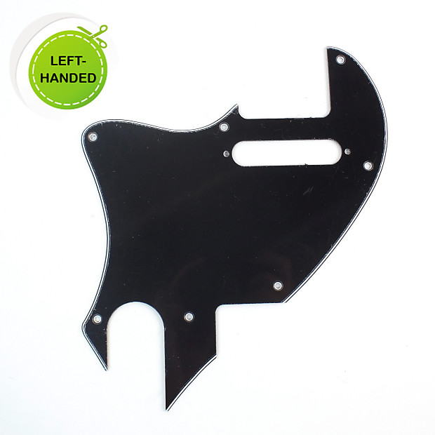 PICKGUARD LEFT HANDED BLACK 3 PLY FOR TELECASTER