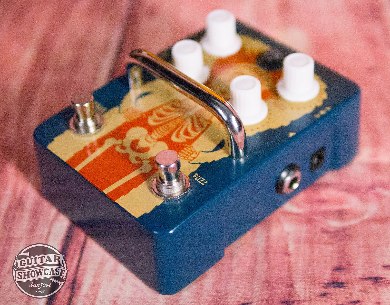Orange Fur Coat Fuzz Octave Graphic Pedal Octaver Guitar Effects