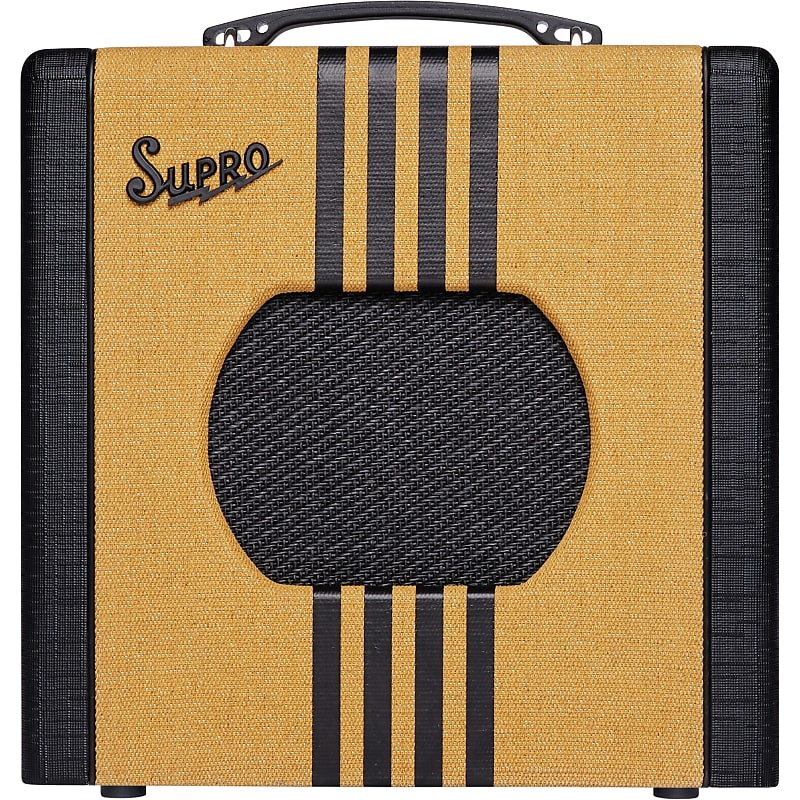 Supro 1818TB Delta King 8 1W 1x8'' Guitar Tube Combo Amplifier Tweed & Black