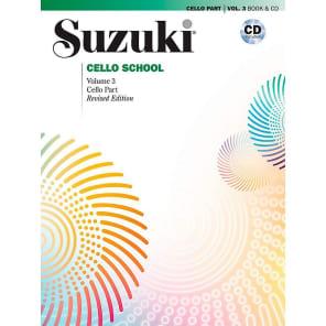Alfred Music 00-40703 Suzuki Cello School - Cello Part Book/CD (Volume 3) - Revised