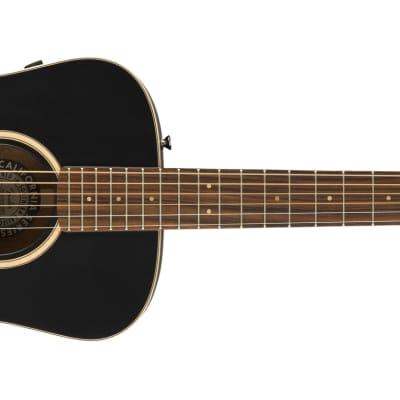 Fender Malibu Special, Pau Ferro Fingerboard, Matte Black Guitar w/bag  - DEMO