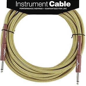 Fender Custom Shop TWEED Electric Guitar Cable, Straight to Straight, 15' ft for sale