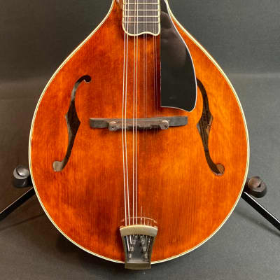 2020 Dearstone A5LC A-Style Mandolin Flamed Transparent Amber Finish