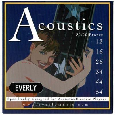 Everly 7012 80/20 Bronze Light-Medium 12-56 Acoustic Strings for sale