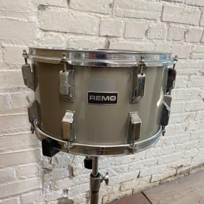 "Remo  8x14"" Quadura Snare Drum 1980's Gray"