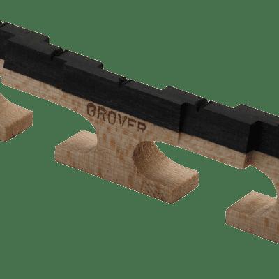 "Grover 76 Tune-Kraft Compensating Banjo Bridge - 5-String - 1/2"" high"