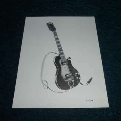 Vintage 1950's National 1124 Electric Guitar Dealer Spec. Sheet! Rare!
