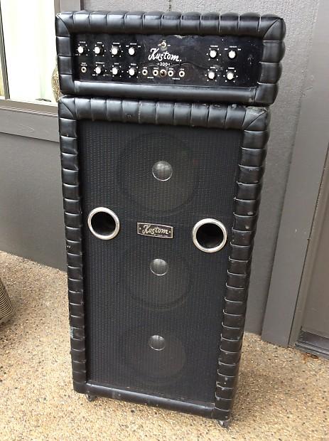 Kustom K 200B Amp 1968 Black Tuck And Roll Matching Head