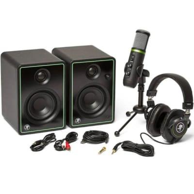 Mackie Creator Bundle with EM-USB Mic CR3-X Monitors and Headphones