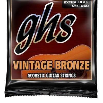 GHS Vintage Bronze 85/15 Acoustic Guitar Strings VN-XL Ex Lt 11-50