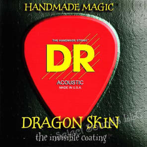 DR Strings DSA-11 Dragon Skin Medium Light 11-50 Acoustic Guitar Strings for sale