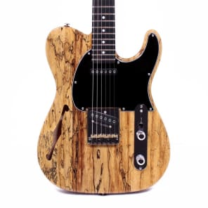 G&L Custom Shop ASAT Classic Semi Hollow Spalted Maple Okoume Electric Guitar for sale