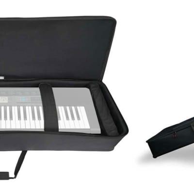 Rockville 61 Key Keyboard Case w/ Wheels+Trolley Handle For Casio CTK-2550