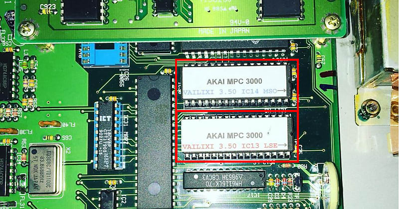 Akai MPC 3000 OS 3 50 Vailixi EPROM Upgrade KIT