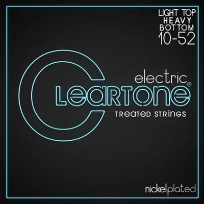 Cleartone .010-.052 LIGHT TOP/HEAVY BOTTOM 9420 Electric Guitar strings 6 PACKS