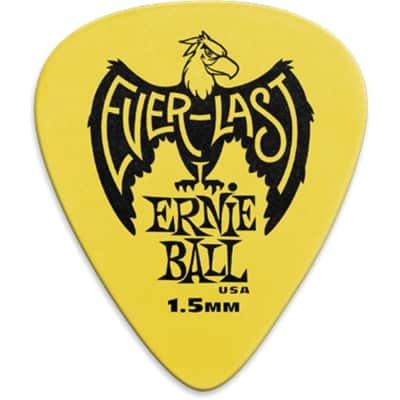 Ernie Ball P09195 Everlast Delrin Guitar Picks - 1.5mm (12-Pack)
