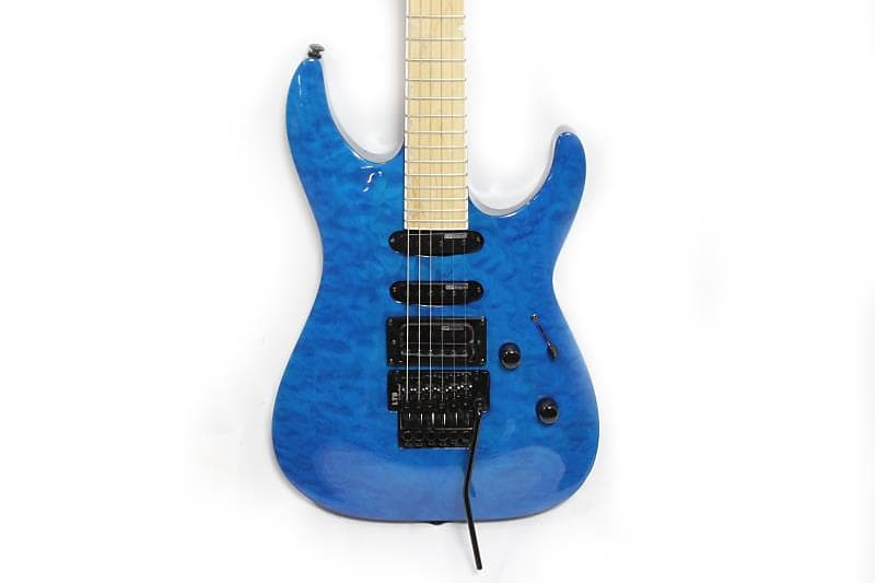 ltd mh 203 qm stb electric guitar blue reverb. Black Bedroom Furniture Sets. Home Design Ideas