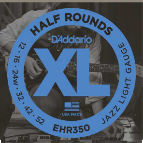 D'Addario EHR350 Half Round Electric Guitar Strings, Jazz Light Gauge