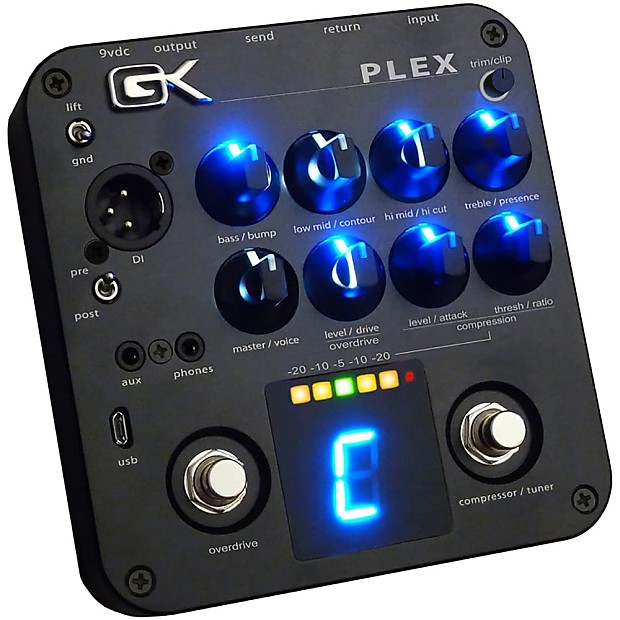 gallien krueger plex preamp bass guitar 4 band eq usb reverb. Black Bedroom Furniture Sets. Home Design Ideas