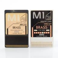 Korg MPC-011 & MSC-011 Brass Memory Card Set w/ Sleeve & Voice Listing M1 #29916