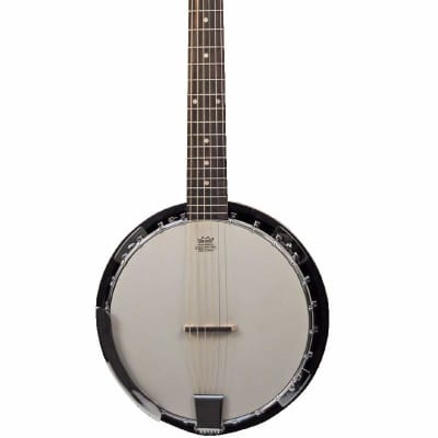 Banjitar 6 string Banjo Guitar by DANVILLE USA (Includes Custom fit Travel Carry Case) Mahogany for sale