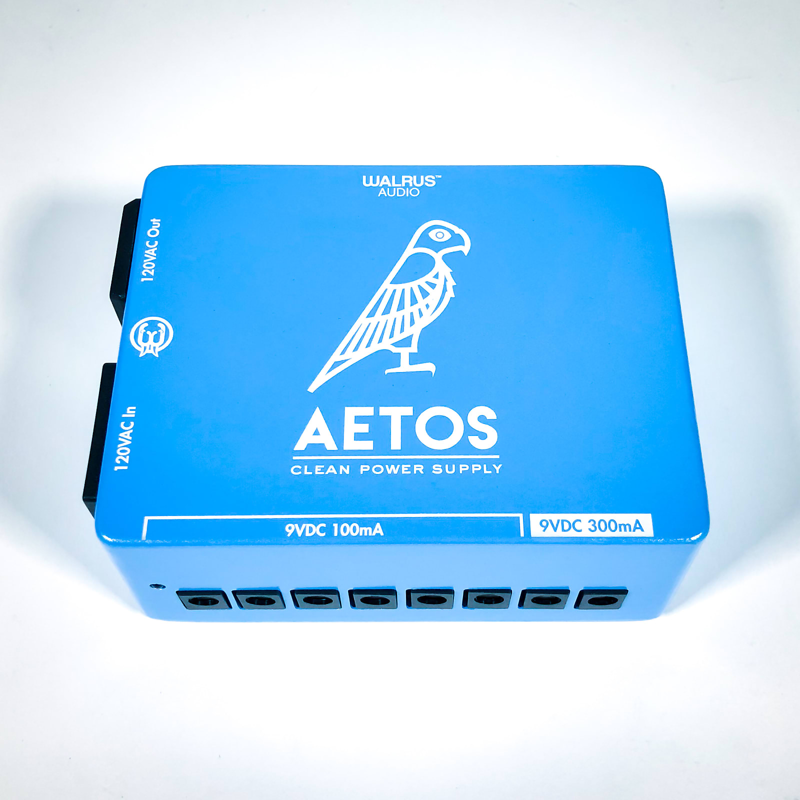 Walrus Audio Aetos Iso Power Supply, Blue & White Ltd Ed , 8x 9v outs  (6x100mA + 2x300mA) (120V/US)