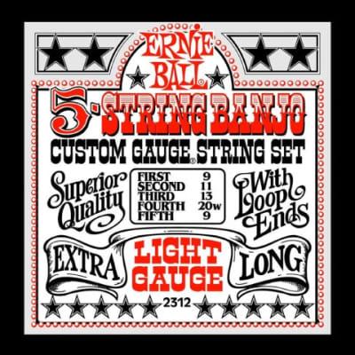 Ernie Ball 2312 Light Banjo Strings, .009 - .020