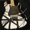 EVH Striped Series Electric Guitar | 2013 (First Year) '78 White with Black Stripes + Case | =\//-/=