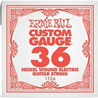 Ernie Ball .036 Single Nickel Wound String