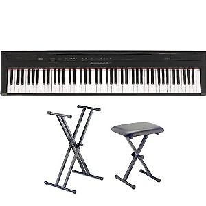 Yamaha p series p35b 88 key digital piano black with for Yamaha p series p35b