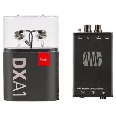 Fender MXA1 In-Ear & PreSonus HP2 Headphone Amp Bundle