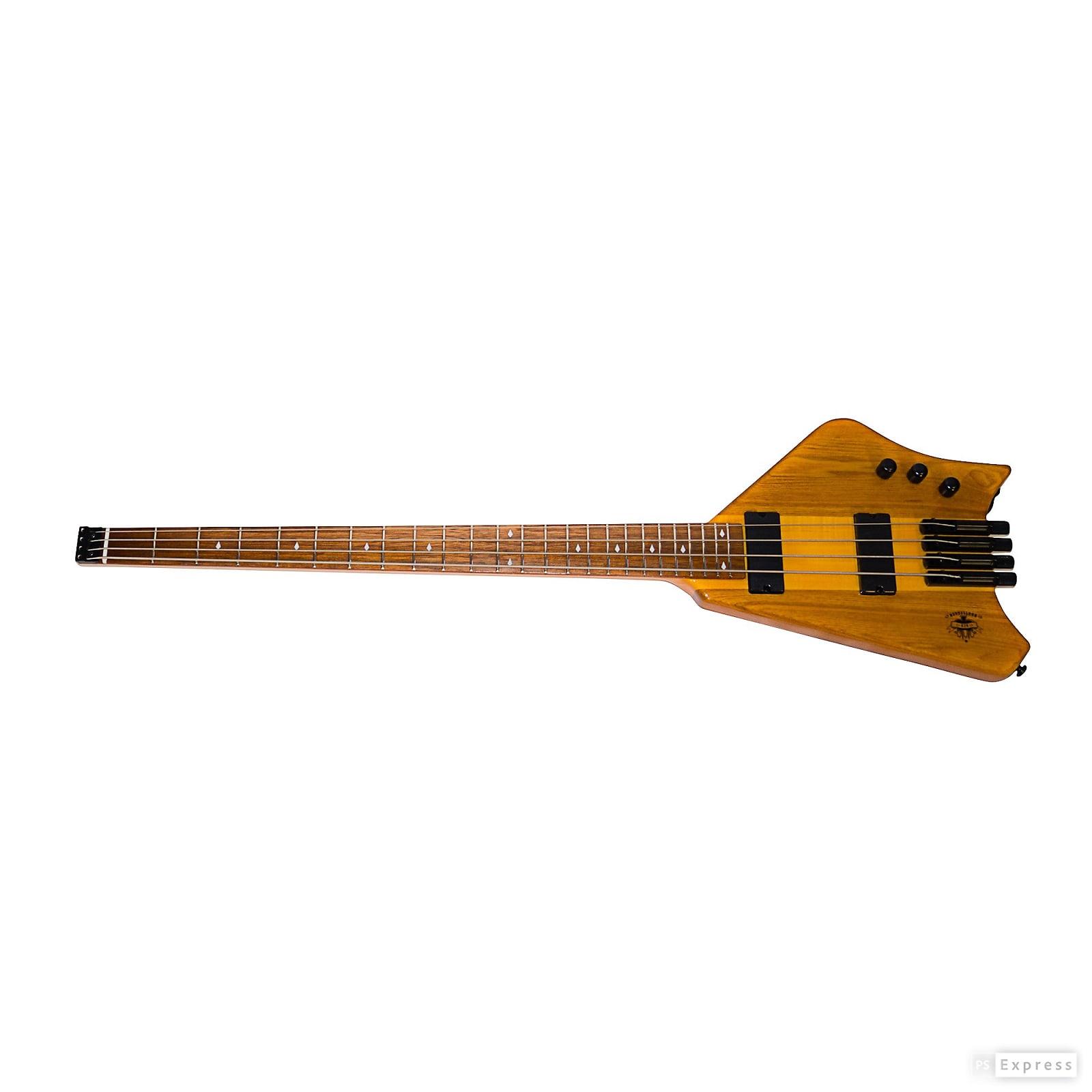 Bootlegger  Ace 4 String Headless Travel Pro Bass With Custom OHSC Case