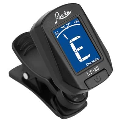 Rowin LT-23 Mini Clip On Tuner Digital Tuner For Guitar/Bass Chromatic Great Stocking Stuffer!