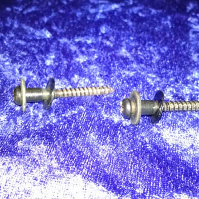 1980s DiMarzio strap lock buttons black