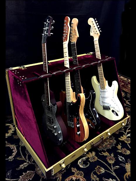 king studio 8 guitar case stand tweed reverb. Black Bedroom Furniture Sets. Home Design Ideas