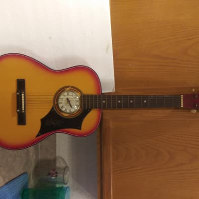 Vintage CHECKMATE Guitar with Electric Clock Insert for sale