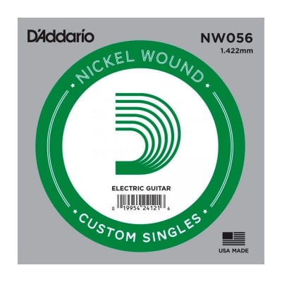 D'Addario Nickel Wound Electric Single String NW056